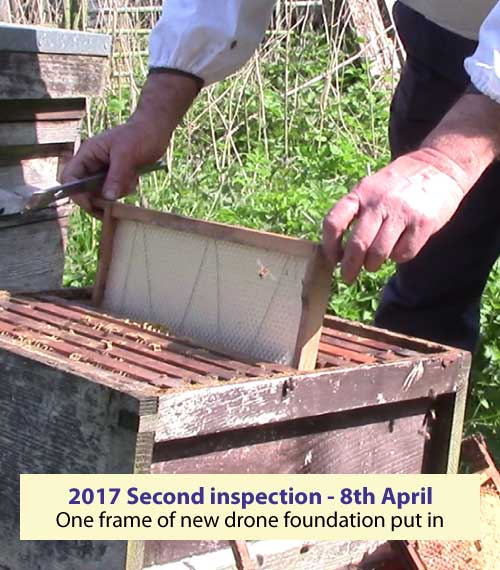 Second inspection 8 April 2017 - drone foundation put in